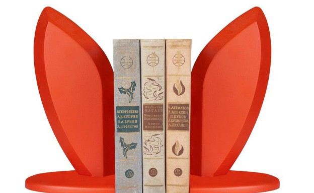 אוזני ארנב מחזיקי ספרים 650 שח  (צילום: ענבל מרמרי)
