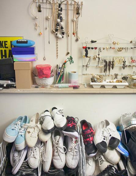 עומר ושירן מילר, נעליים גובה (צילום: אבישי פינקלשטיין)