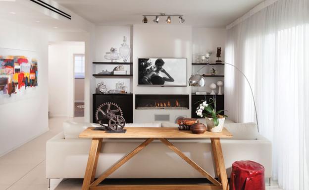 דדי ויפית ראובני 06, חדר העבודה הממוקם בממד (צילום: אלעד גונן)