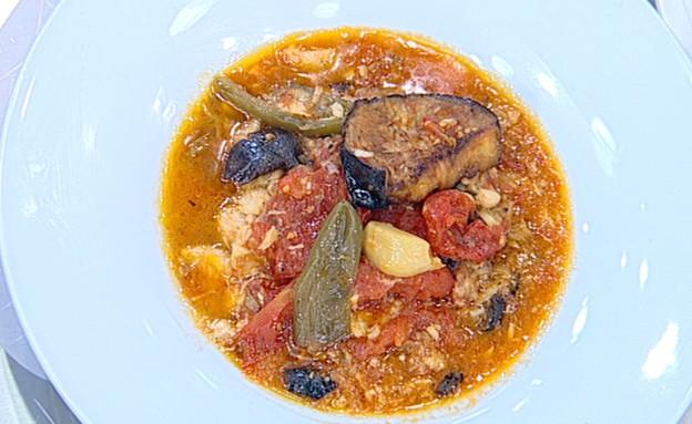 תבשיל דג לוקוס וספיחה (צילום: קשת, מאסטר שף VIP)