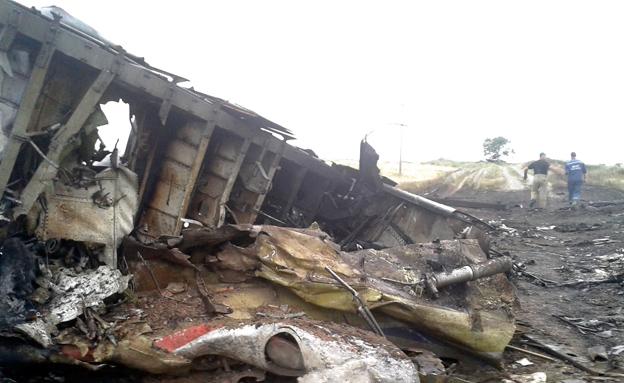 שרידי טיסת מלזיה איירליינס באוקראינה (צילום: רויטרס)