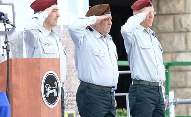 """טקס חילופי המפקדים, היום (צילום: דו""""צ)"""