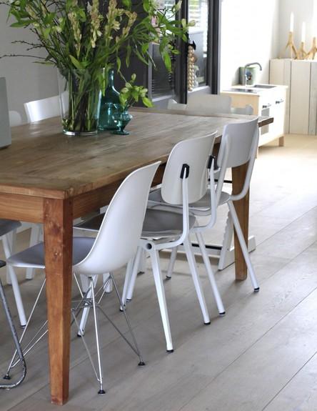 פינות אוכל, כיסאות בעיצוב שונה (צילום: interieur_inspiratie)