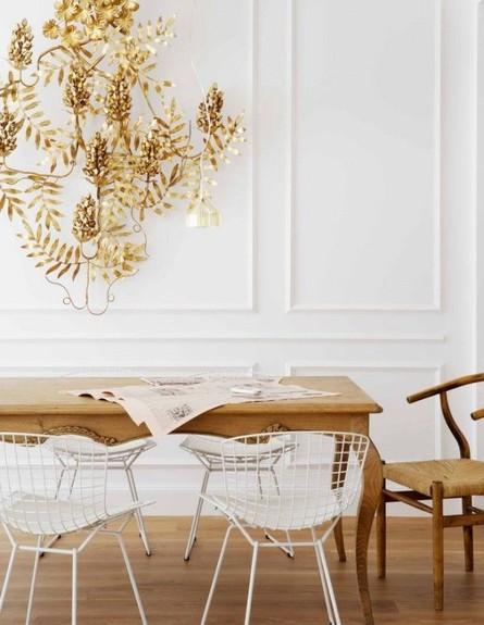 פינות אוכל, כיסאות עץ ומתכת,  (צילום: coco+Kelly)