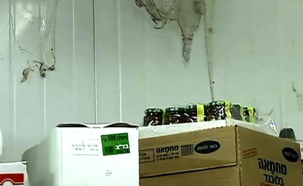 ארגזי מזון בתנאי תברואה ירודים (צילום: חדשות 2)