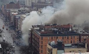 ביניין שקרס במנהטן (צילום: חדשות 2)