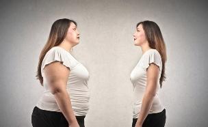 אישה רזה ושמנה (צילום: אימג'בנק / Thinkstock)