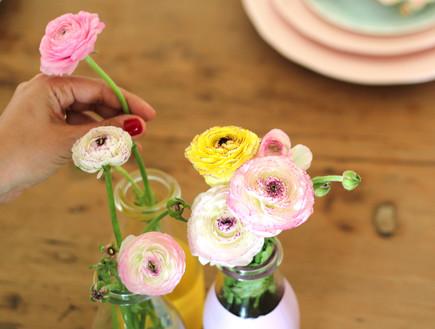 שולחן ברגע האחרון, פרחים בצנצנת