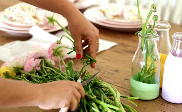 שולחן ברגע האחרון, פרחים