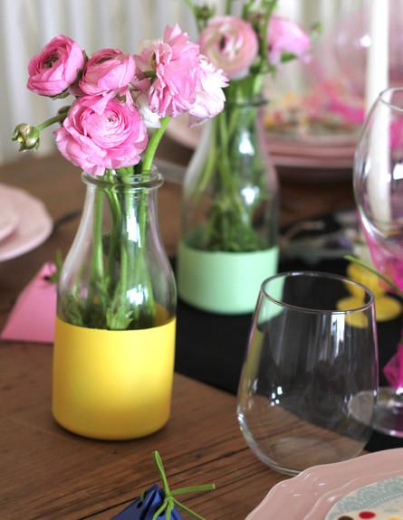 שולחן ברגע האחרון, צנצנת עם פרחים