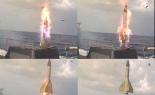 """טיל מסוג ברק 1 (צילום: דובר צה""""ל)"""