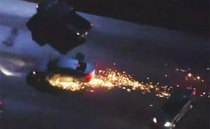 צפו: המרדף הפרוע בכבישי לוס אנג'לס