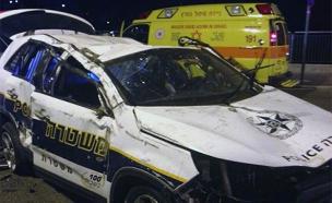 זירת התאונה לפנות בוקר בירושלים