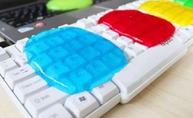 גאדג'טים למשרד, ג'ל לניקוי אבק ממקלדת מחשב (צילום: מתוך איביי)
