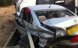 """התנגשות בין כלי רכב, ארכיון (צילום: דוברות מד""""א)"""
