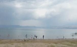 מזג אוויר סגרירי בכנרת, אתמול (צילום: דנה בכר ראשות ניקוז ונחלים כנרת)