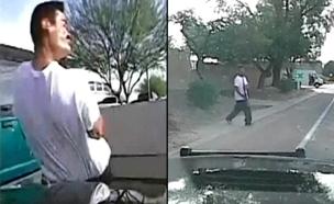 ניידת משטרה דרסה אדם חמוש – בכוונה