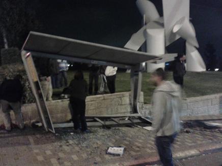 עמדו בתחנה - ונדרסו. זירת התאונה