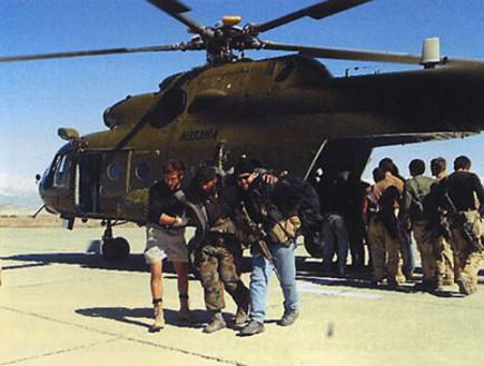 היחידה עם מסוק מדגם רוסי, אפגניסטן 2002