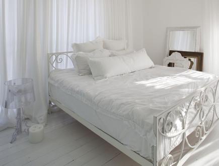 חדרי שינה 08, חדר שינה שכולו בלבן פרקט מולבן של Parqueteam