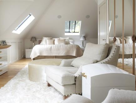 חדרי שינה 05, שילוב טקסטורות עשירות סביב אותה משפחת גוונים