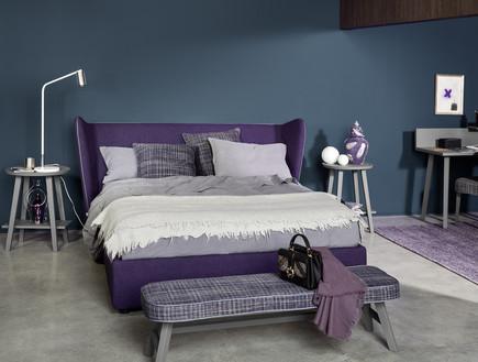 חדרי שינה 03, מיטה זוגית של פנטהאוז רהיטים עם כנפיים עוטפות לאוויר
