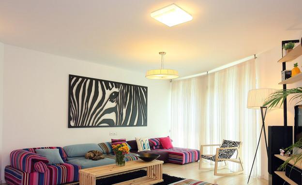 הדירה של ימית וישראל, סלון (צילום: אבישי פינקלשטיין)