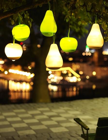 ריהוט חוץ איקאה, תאורה סולרית בצורת תפוח