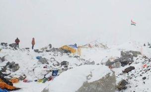 הר האוורסט לאחר רעידת האדמה בקטמנדו (צילום: חדשות 2)