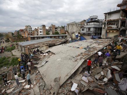 ההרס בעקבות הרעידה בנפאל, היום