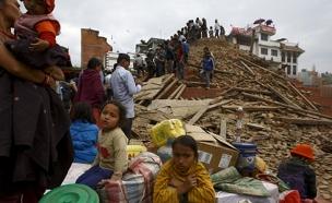 רעידת אדמה בקטמנדו (צילום: רויטרס)