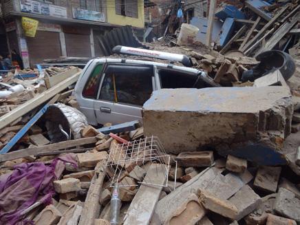 מראות ההרס בקטמנדו (צילום: דפנה אטינג)