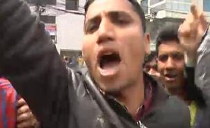 הפגנות בנפאל (צילום: חדשות 2)
