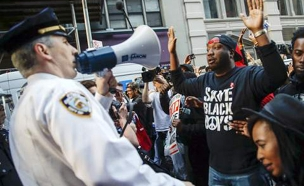 60 עצורים בהפגנת זעם בניו יורק (צילום: skynews)