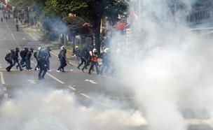 התפרעויות  באיסטנבול (צילום: רויטרס)