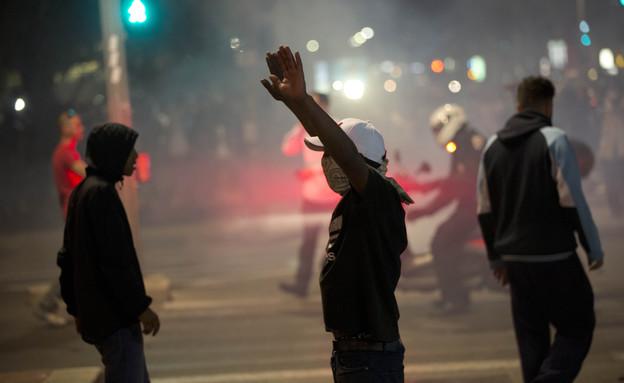 מחאת יוצאי אתיופיה (צילום: ap)