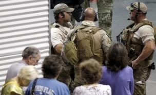 זירת הירי בטקסס, השבוע (צילום: רויטרס)