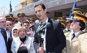 נשיא סוריה נואם - היום