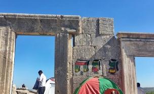 הונדליזם במירון, היום (צילום: רשות העתיקות)