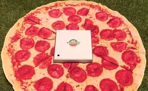 מגבות חוף 02, קולקציית מגבות בצורת פיצה עם תוספות שונות (צילום: piz)
