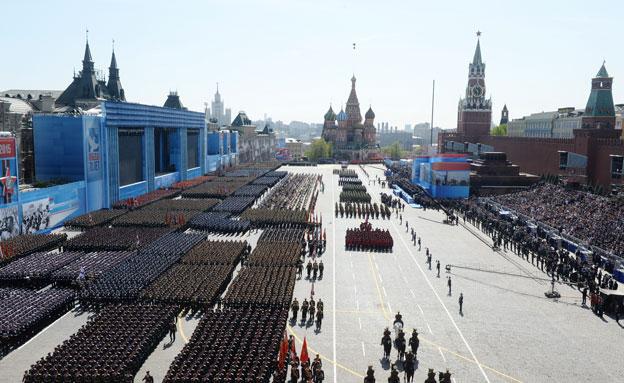 החג החשוב ברוסיה. מוסקבה, היום (צילום: רויטרס)