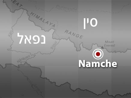 מפת אזור הרעידה הנוספת