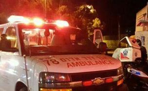 זירת פיגוע הדריסה בירושלים (צילום: אורי דייוויס, דוברות איחוד הצלה)