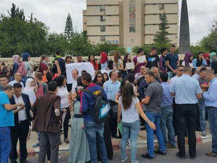 הפגנה במגזר נגד הדלפות (צילום: חדשות 2)