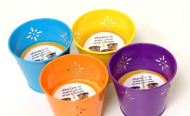מוצרים נגד יתושים, נר צינטרונלה מרחיק יתושים (צילום: יחצ הום סנטר)