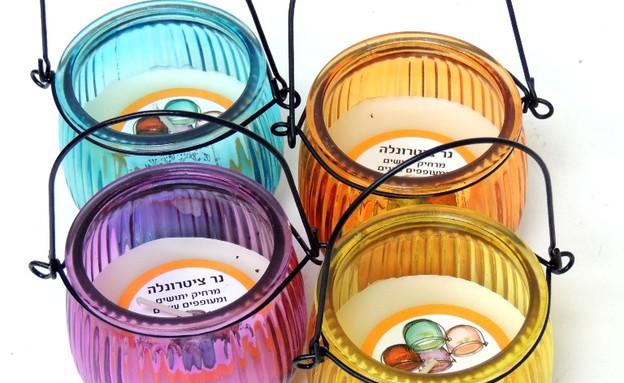 מוצרים נגד יתושים, עששית צינטרונלה מרחיק יתושים (צילום: יחצ הום סנט)