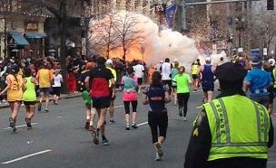 פיגוע בבוסטון (צילום: חדשות 2)