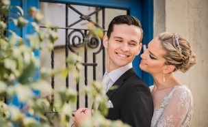 החתונה של ג'ניפר ואלכסיי (צילום: חיים אפריאט)