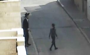 תיעוד החשוד במצלמות האבטחה