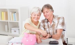 זוג מבוגר פנסיה (צילום: thinkstock)